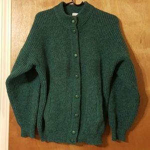 Vintage St. Michael UK 100% Wool Cardi W/Pockets